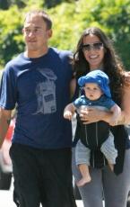 Alanis Morissette & Family Out For A Stroll