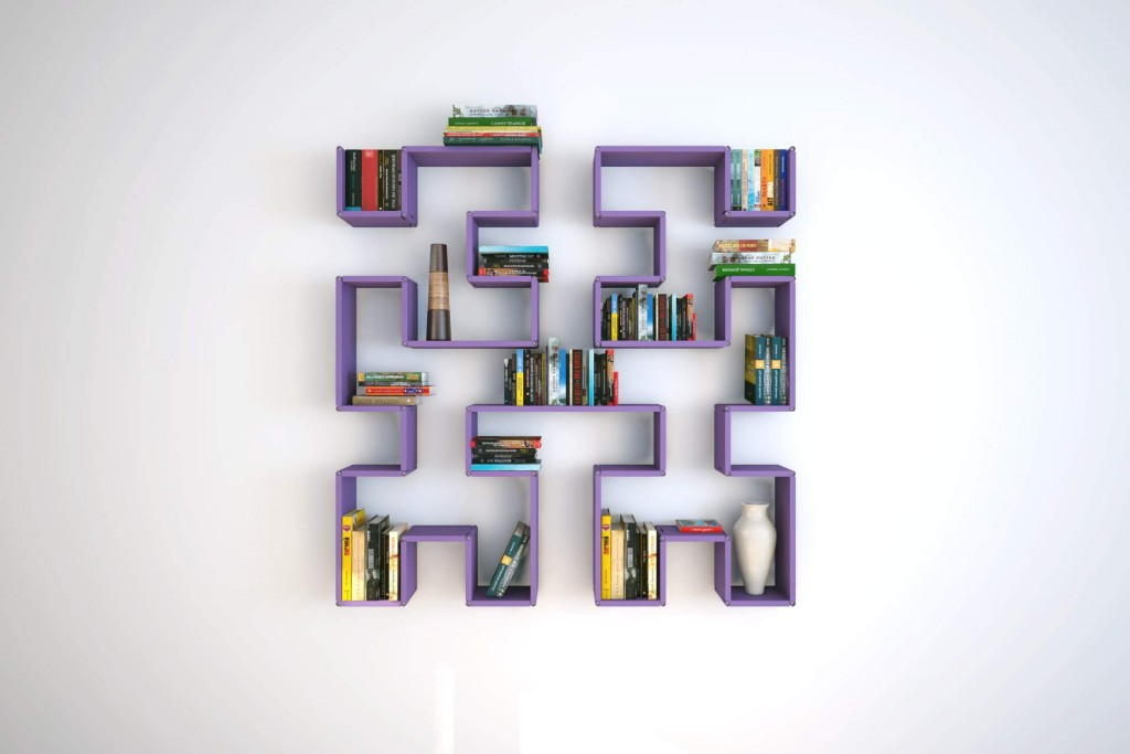 interijer polica za knjige