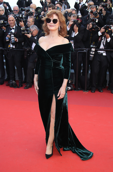 """CANNES, FRANCE - MAY 17:  Susan Sarandon attends the """"Ismael's Ghosts (Les Fantomes d'Ismael)"""" screening and Opening Gala during the 70th annual Cannes Film Festival at Palais des Festivals on May 17, 2017 in Cannes, France.  (Photo by Mike Marsland/Mike Marsland/WireImage)"""