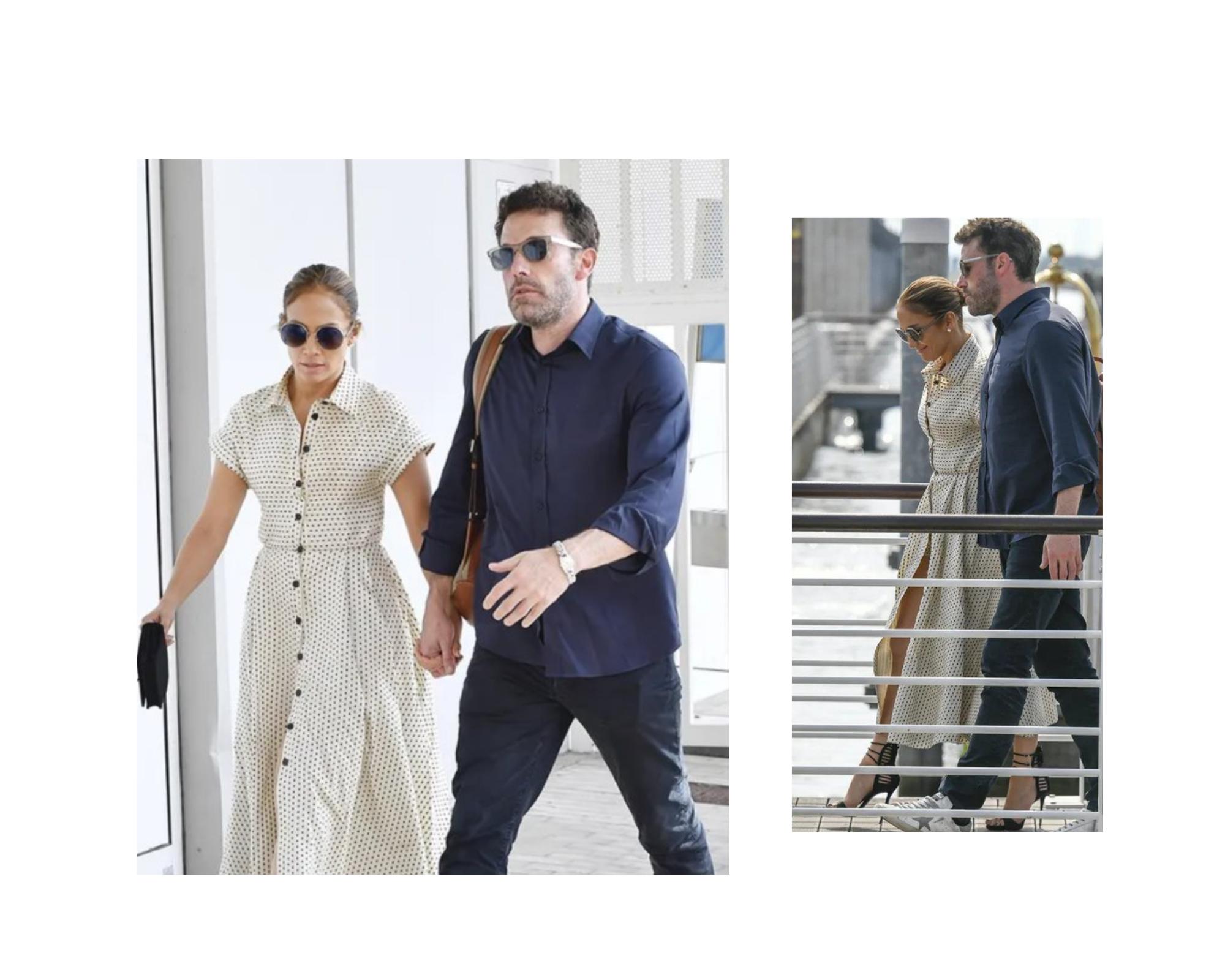 Jennifer Lopez u haljini sa tufnicama u naručju Bena Affleca u Veneciji